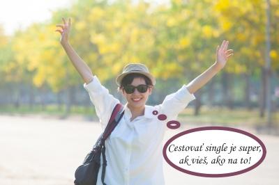 Spokojná turistka na single dovolenke