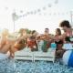 letná párty na pláži