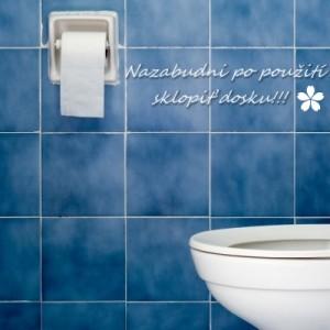 Odkaz na stene toalety