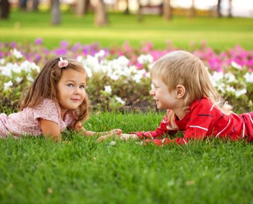 prvá láska zaľúbených detí